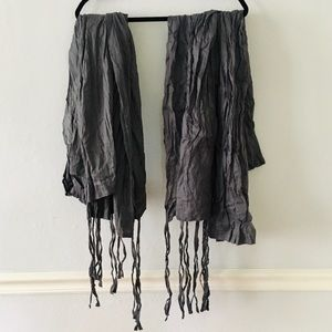 Cost Plus World Market Accents - World Market Gray Crinkle Voile Cotton Curtains